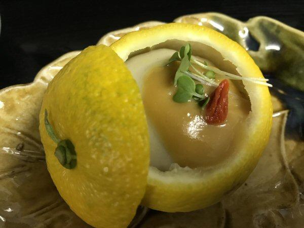 柚子胡麻豆腐。
