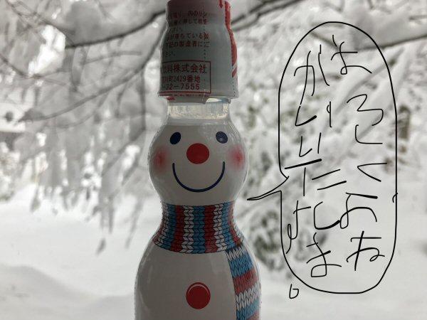 雪だるまラムネ。