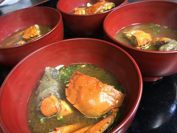 もくず蟹のお味噌汁